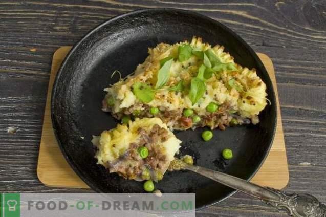 Kartupeļu pīrāgs ar malto gaļu un dārzeņiem