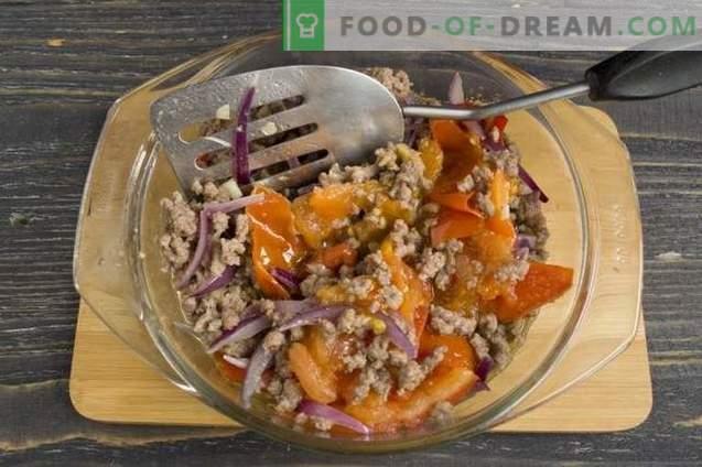 Картофен пай с кайма и зеленчуци
