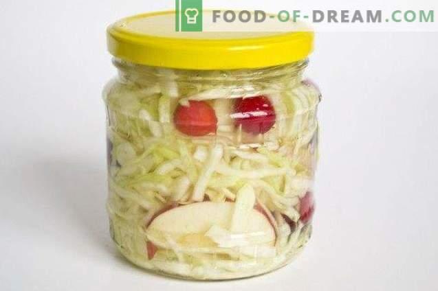 Маринирана зелка со боровинки во лимонска маринада