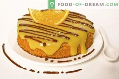 Burkānu sūklis ar apelsīnu krēmu