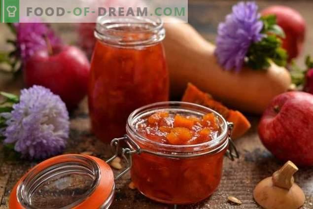 Confiture de pommes à la citrouille - le goût sucré de l'automne