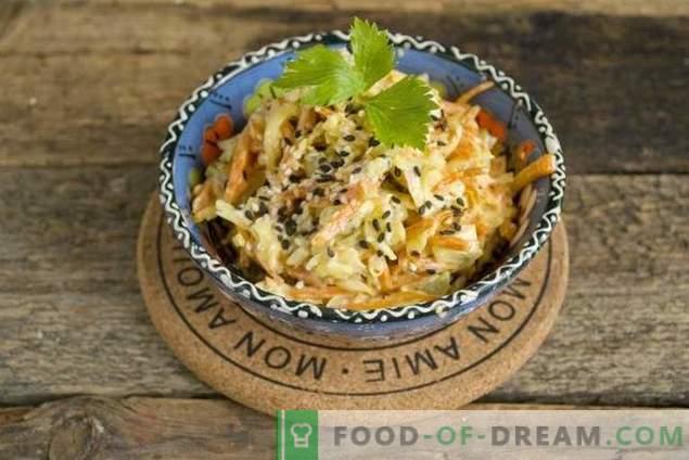 Insalata di pollo facile con formaggio e carote