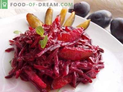 Salată dulce cu prune și sfecla