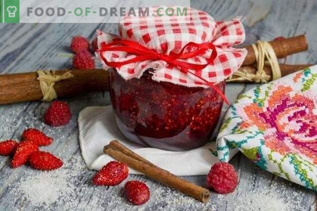 Confiture de fraises à la framboise et à la cannelle