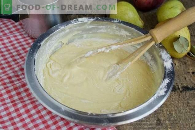 Pastel con peras y manzanas - postre de té de otoño