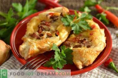 Puffar med kött, potatis och ost