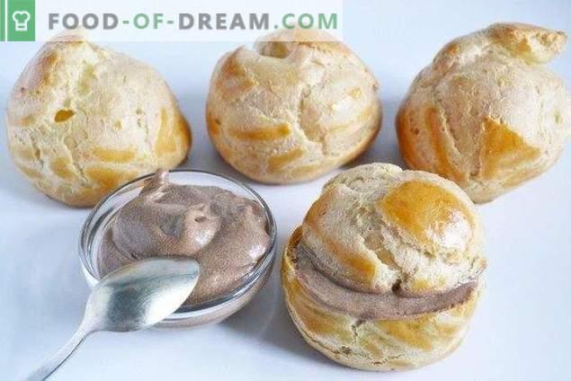 Profiteroles classici con crema pasticcera