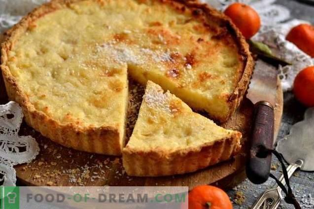 Gâteau sableux au fromage cottage, à l'ananas et à la noix de coco