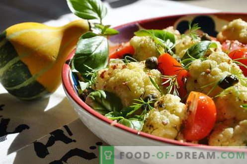 Salada de couve-flor - as melhores receitas. Como corretamente e saborosa salada de couve-flor cozida.