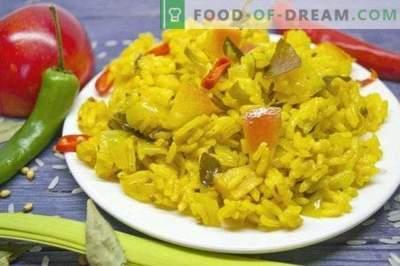 Vegetarisk curry ris med äpplen