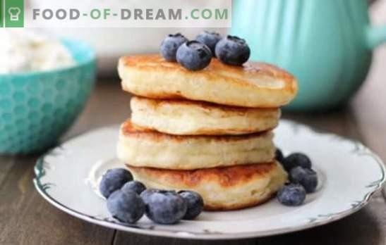 Panquecas caseiras: receitas rápidas de café da manhã. Panquecas saborosas de acordo com receitas rápidas em kefir, leite, abobrinha, fígado