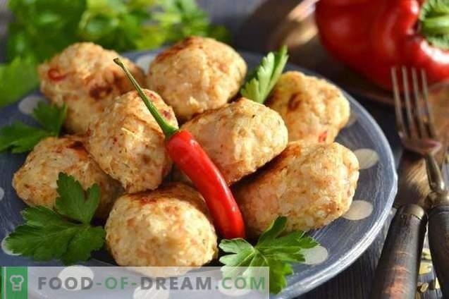 Chicken meatballs in the oven
