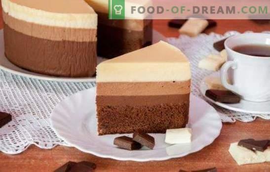 Kolm šokolaadikooki: retsept kõige rafineeritumate gurmaanide jaoks.