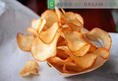 Hemlagade chips - de bästa matlagningsmetoderna. Hur man lagar marker i hemmet.