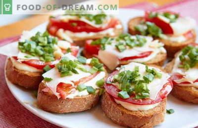 Enkla whip up smörgåsar är de bästa recepten. Hur man snabbt och välsmakande lagar enkla smörgåsar i bråttom.
