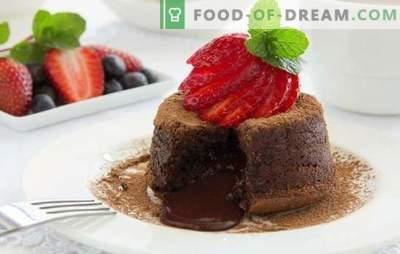 Chokladmood: med efterrätt - det är enkelt! Choklad dessert recept för alla tillfällen: ostkaka, logg, kex, souffle
