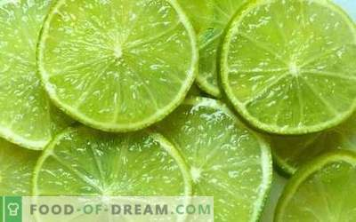 Lime - useful properties, use in cooking. Recipes with lime.
