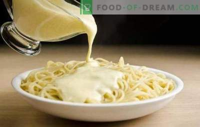 Delicious creamy sauce for pasta - the key to the perfect dish! Recipes cream sauces for pasta with mushrooms, shrimps, cheese, salmon