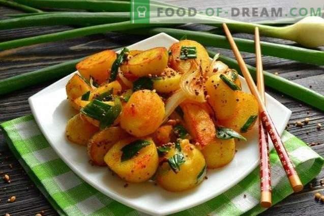Stekt Unga Potatis I Indiska Kryddor