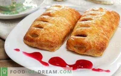 Muffins med sylt - söta bakverk för te! Recept för bullar med jäst, osyrad, blöta bakverk och marmelad