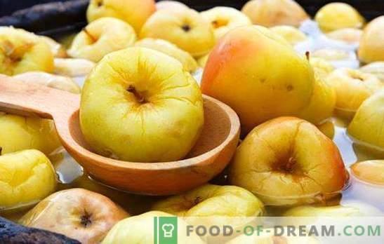 Pommes trempées à la maison - la fortification a commencé! Les meilleures recettes pour les pommes grillées à la maison dans des barils et des canettes