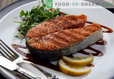 Lašu steiks - labākās receptes. Kā pareizi un garšīgi pagatavot laša steiku.