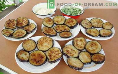 Пржени модри патлиџани - најдобри рецепти. Како да правилно и вкусно готви пржени модар патлиџан.