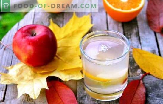 Kompozicija obuolių ir apelsinų - skanus gėrimas su egzotiškų patarimų. Geriausių obuolių ir apelsinų kompotų pasirinkimas