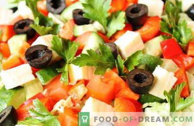 Salate fără maioneză - cele mai bune rețete. Cum să salate în mod corespunzător și gustoase pentru a găti fără maioneză.