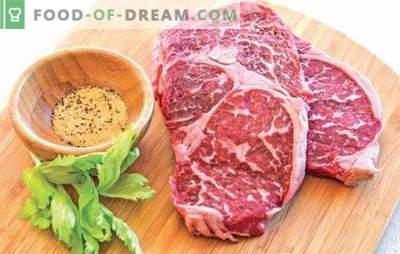 Marmora liellopu steiks - gaļas delikatese! Receptes un visi veidi, kā gatavot marmora liellopu gaļas steikus krāsnī, krāsnī un uz grila