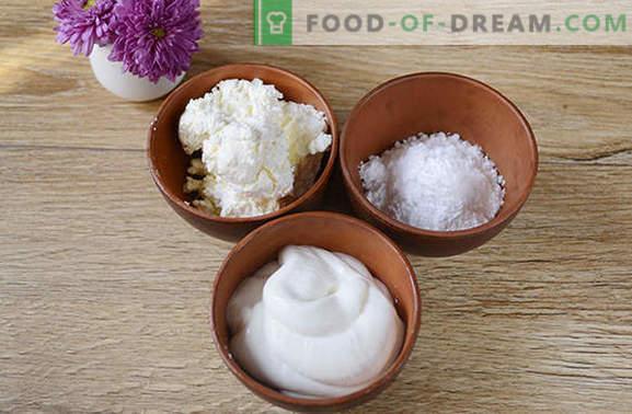 Crema agria: un plato independiente y decoración para hornear. Paso a paso la foto del autor receta crema de crema agria y queso cottage