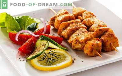 Kycklingkebab - de bästa recepten. Hur man lagar kycklingspett.