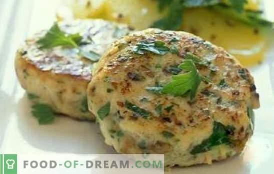 Costeletas de aveia com frango - exuberantes e suculentas. Como preparar rissóis de aveia com frango: as melhores receitas
