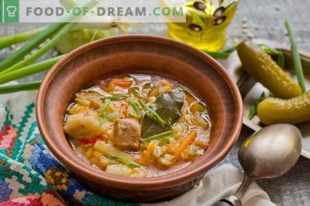 Solyanka met aardappelen en Alkmaarse gort