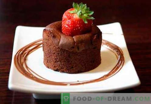 Choklad soufflé - de bästa recepten. Hur man snabbt och gott kokar en choklad-souffel.