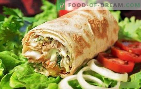 Шаварма со пилешко во пиво леб: готвење домашна брза храна чекор по чекор! Избор на најдобрите пилешки shawarma рецепти (чекор по чекор и во детали)