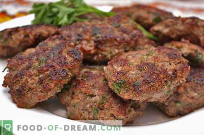 Кожени од мелено месо се најдобри рецепти. Како правилно и вкусно готви мелни топки од мелено месо.
