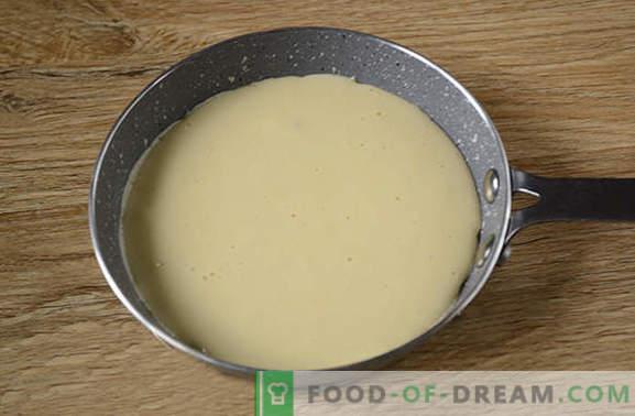 Panquecas em leite: versão americana seca dos fritos habituais! Receita da foto passo a passo do autor de panquecas no leite - gostoso simples