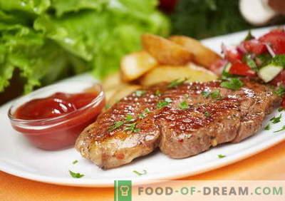 Bistecca di maiale - le migliori ricette. Come cucinare correttamente e gustoso bistecca di maiale.