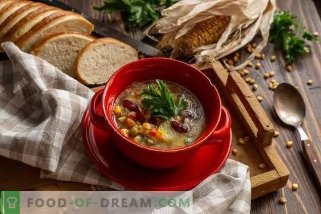 Zuppa messicana con mais e fagioli - semplice e conveniente