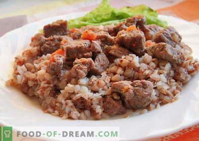 Tatar ja liha - parimad retseptid. Kuidas õigesti ja maitsev küpsetatud tatar liha.