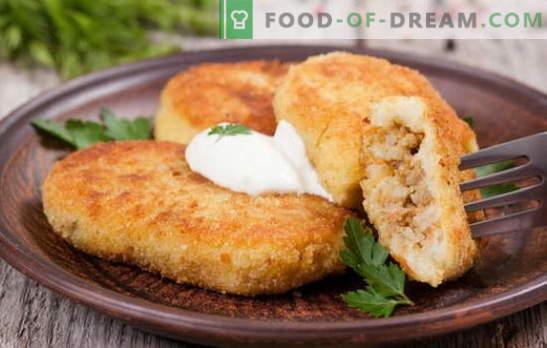 Картофено злато с месо - идеално ястие за лека закуска. Рецепти картофи Zraz с месо: във фурната и в тигана