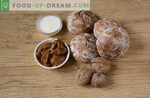 Delicioso y rápido para el té: un pastel de pan de jengibre sin hornear. Receta paso a paso del autor para un pastel sin hornear pan de jengibre: fotos detalladas