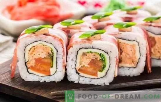 Sushi hemma: steg-för-steg recept och tricks. Hur man lagar ris, fyll och vrid sushi hemma