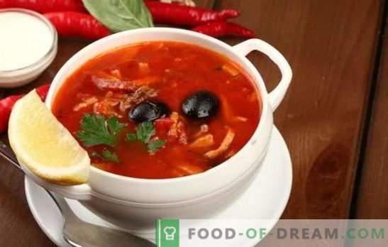 Solyanka con maiale: varianti di zuppa tradizionale con maiale, cavolo, funghi. Come preparare il solyanka con patate e riso?