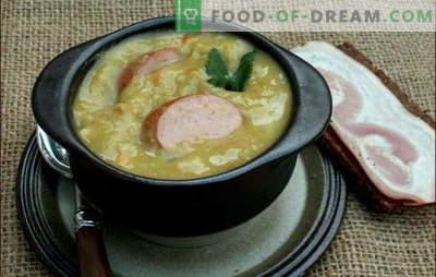 Holländsk soppa - gott om smak! Recept av olika holländska soppor: ärter, grönsaker och kött, med köttbullar och bacon