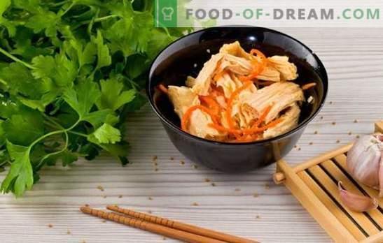 Sojaspargris - recept för aptitretare och varma rätter. Recept från sojas asparges för varje dag: med ris, frunchozy, kyckling, svamp