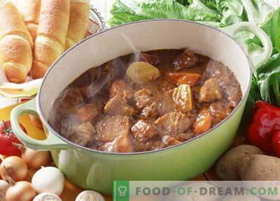 Guisado de porco - as melhores receitas. Como corretamente e saboroso cozinhar guisado de porco.