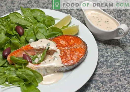 Fisksåser är de bästa recepten. Hur man ordentligt och lagar sås för fisk.
