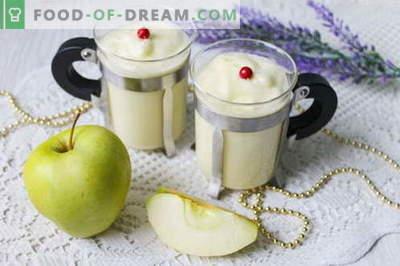 Postre de crema de manzana: ¡euforia del gusto!